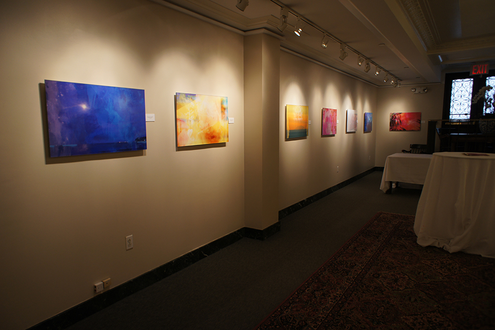 Iconics / Poetics installation view at the Union League Club Gallery.